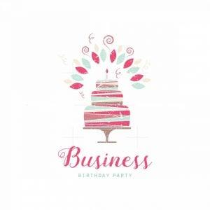 Birthday Party And Cake Symbol Logo