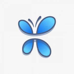 Modern Butterfly Logo