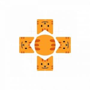 Cat Medical Cross Logo