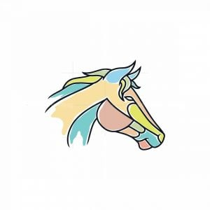 Colorful Horse Logo