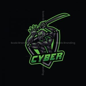 Cyber Samurai Mascot Logo
