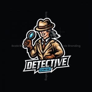 Detective Gaming Mascot Logo