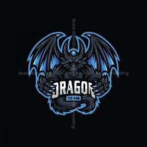 Dragon Team Mascot Logo Logo