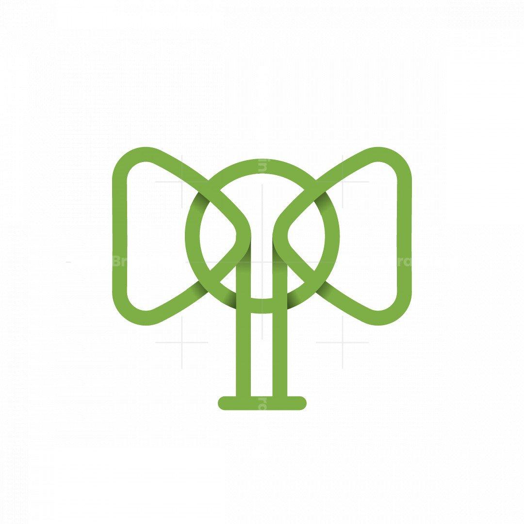 Elephant Head Minimalist Logo