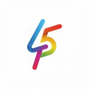Forty Five Monoline Logo