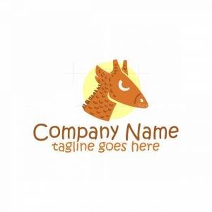 Giraffe Head Mascot Logo