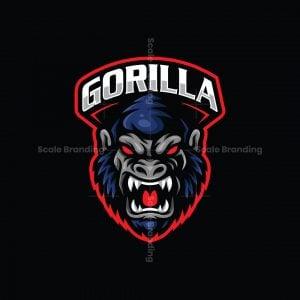 Gorilla Esport Mascot Logo