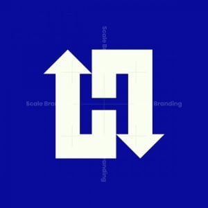 Negative Space H Logo