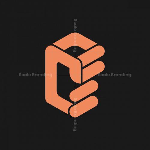 Hexa Cf Letters Hand Logo