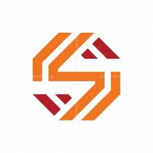Hexagon Letter S Logo