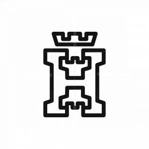 H Letter Castle Logo