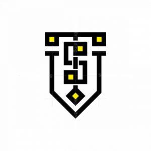 The Initials Ts Logo
