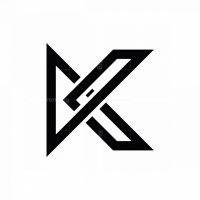 Letter K Unique Logo
