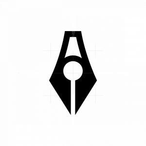 Letter A Pen Logo
