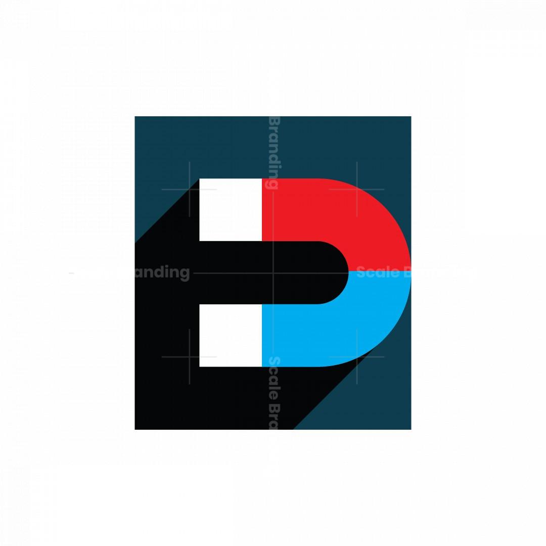 Letter E Magnet Logo