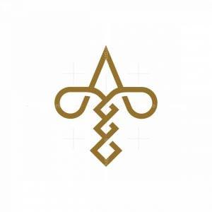 Elegant At Or Ta Logo