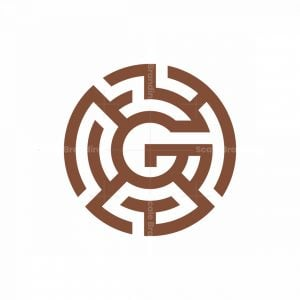 Abstract Letter G Labyrinth Logo