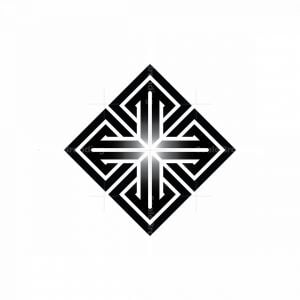 Mandala Cross Logo