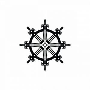 Rudder Ship Sword Logo
