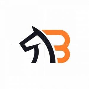 Letter B Horse Logo
