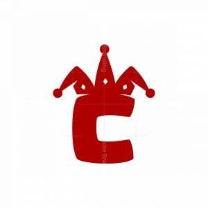 Letter C Clown Logo