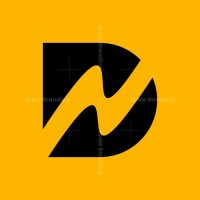 Letter Dn Nd Electric Logo