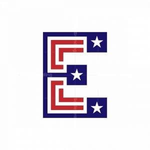 Letter E Star Logo