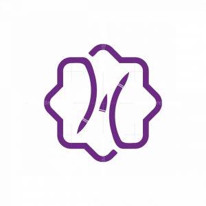 Letter H Flower Logo