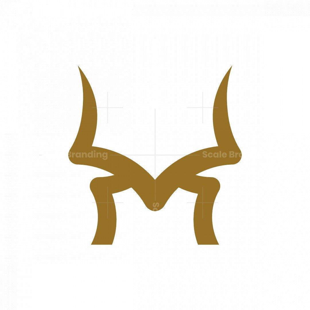 Letter M Horn Logo