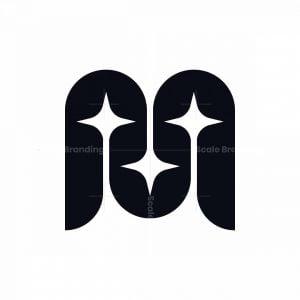 Letter M Star Logo