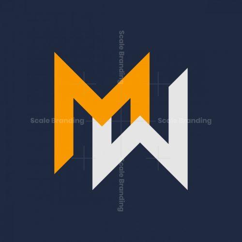 Letter Mw Wm Monogram Logo