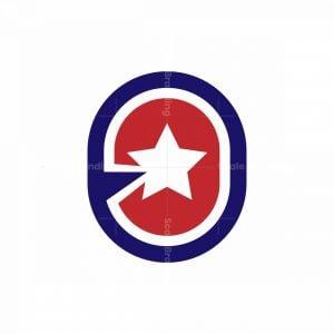 Letter O Star Logo