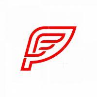 Letter P Wing Logo