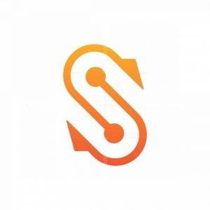 Letter S Hook Monogram Logo