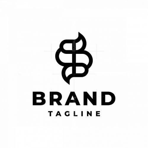 Letter S Snake Logo
