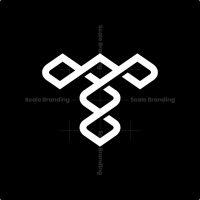 Letter T Loop Logo