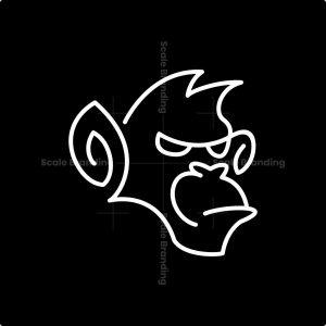 Lineart Monkey Logo