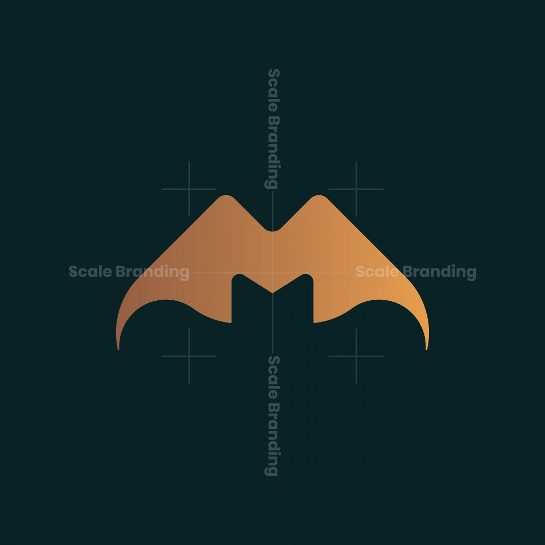 M Letter Bat Logo