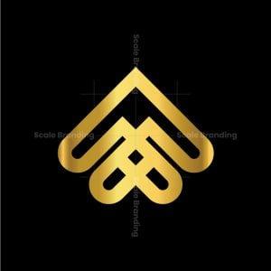 Letter M A Heart Logo