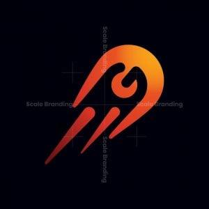 Letter G Comet Punch Logo