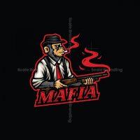 Mafia Ape Mascot Logo
