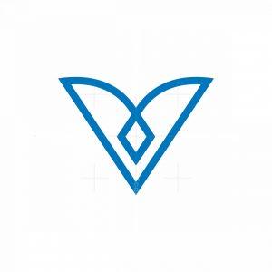 Minimal Letter V Logo