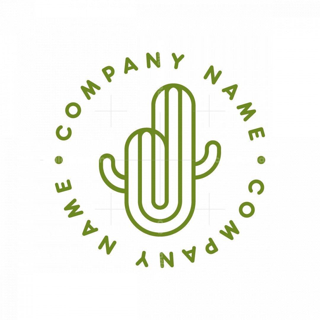Minimalist Cactus Logo