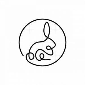 Minimalist Rabbit Logo