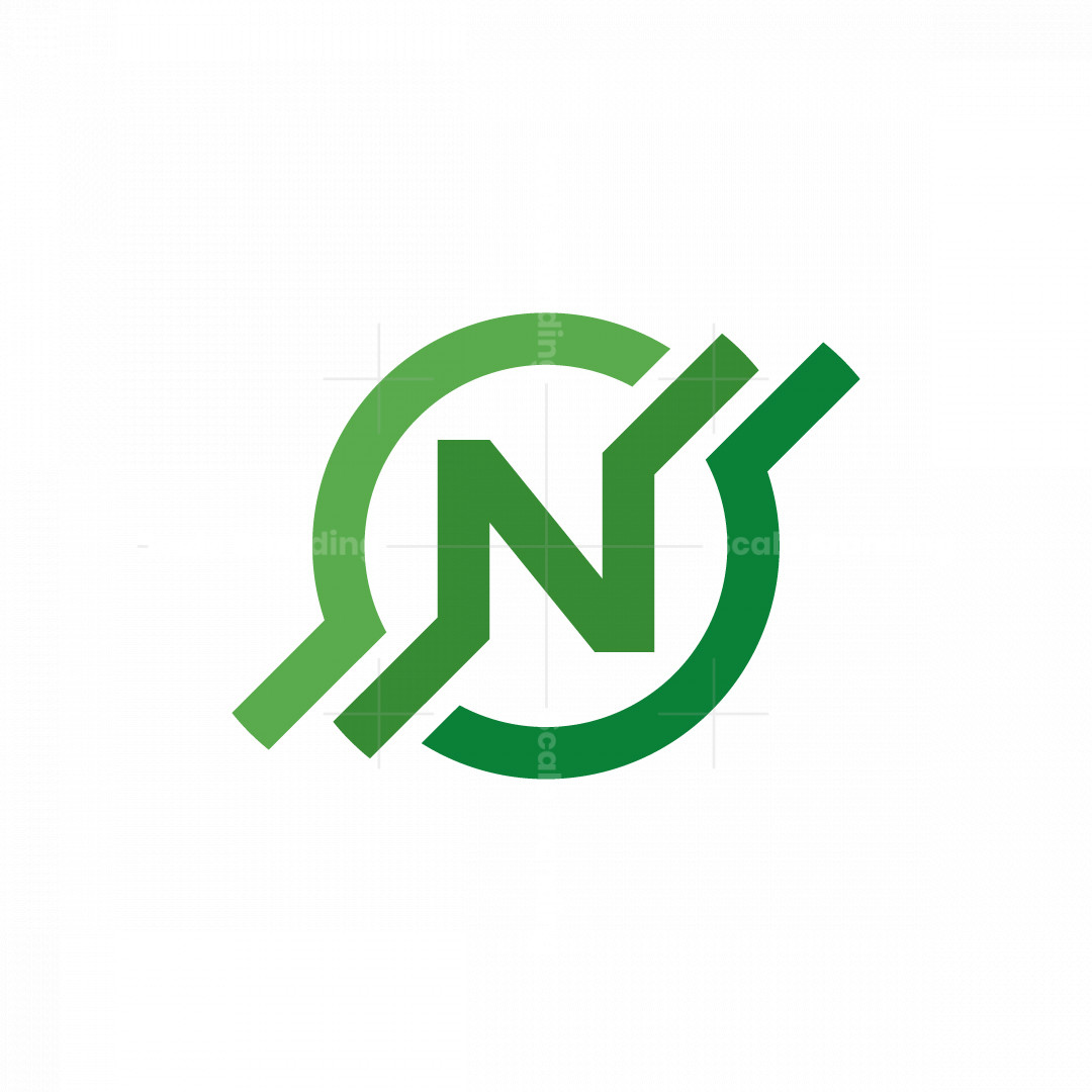 Letter N Circle Logo