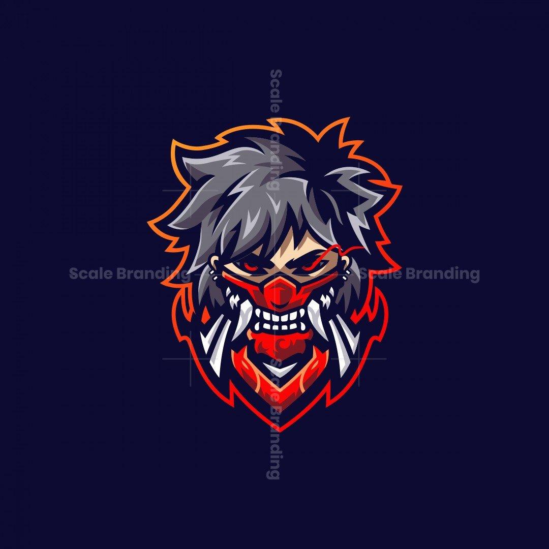 Oni Mask Mascot Logo