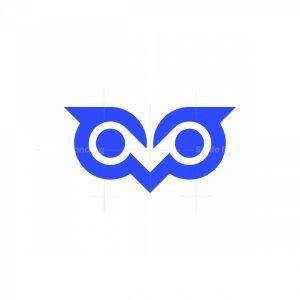 Big Eyed Owl Face Logo