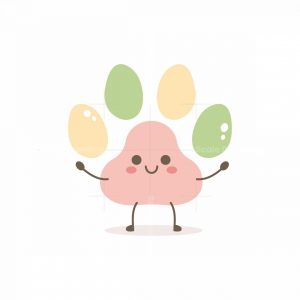 Paw Cartoon Mascot Logo