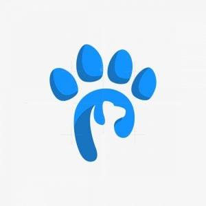 Paw Letter P Logo