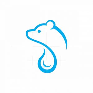 Polar Bear Water Drop Logo